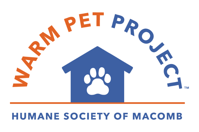 the warm pet project logo for the Humane Society of Macomb